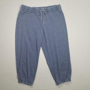 Style & Co Sport Blue Capri Jogger Sz Large